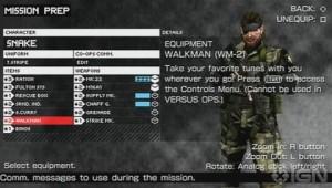 Peace Walker mission preparation