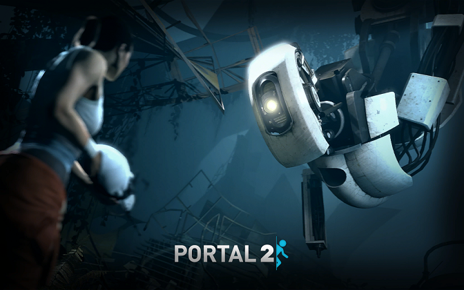 Portal 2 Chell and GLaDOS