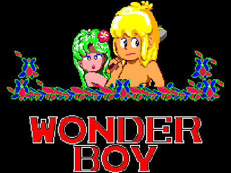 Wonder Boy Title Screen