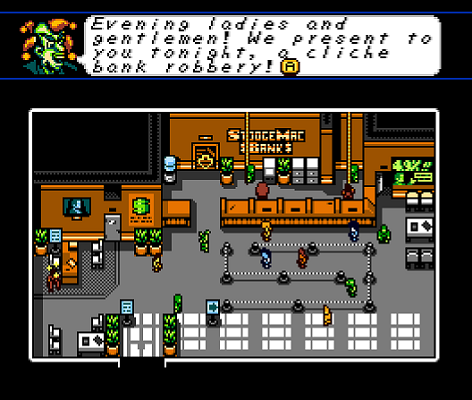 Retro City Rampage Bank Robbery