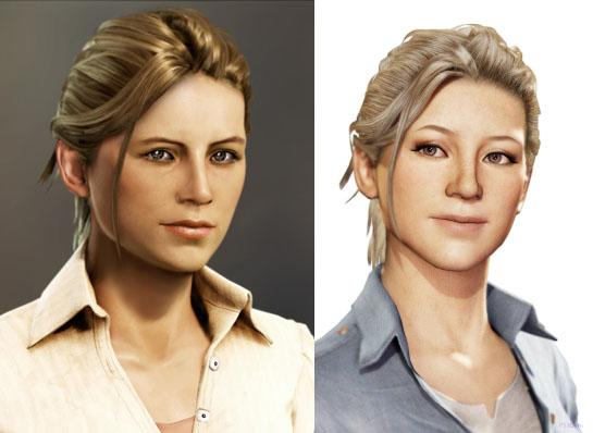 Uncharted 3 Elena Comparison