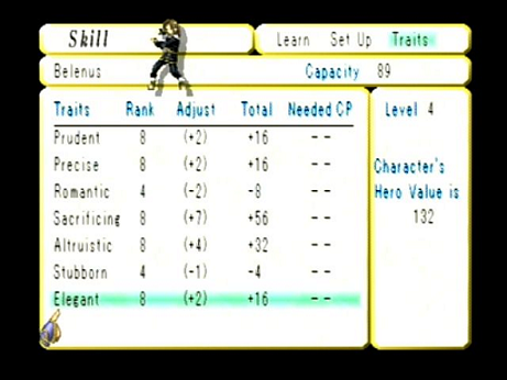 Valkyrie Profile Traits