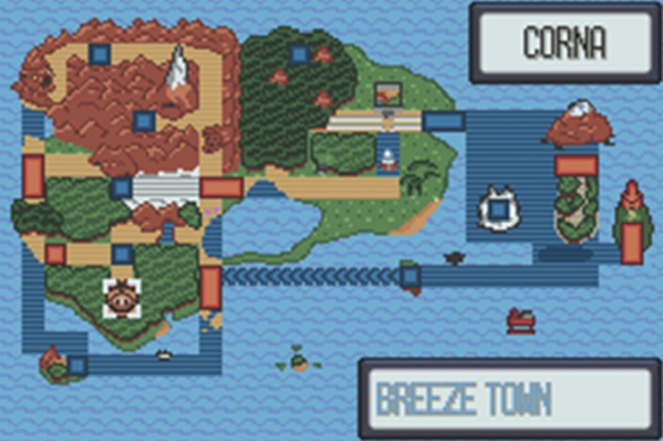 Pokemon Quartz Map