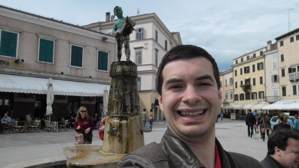 Rovinj Fountain Statue