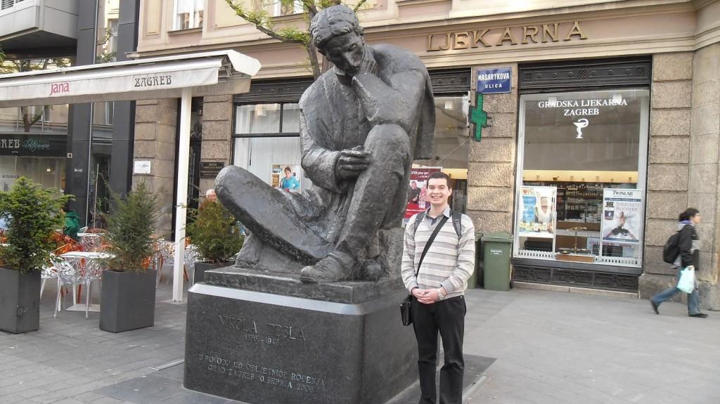 Zagreb Tesla Statue