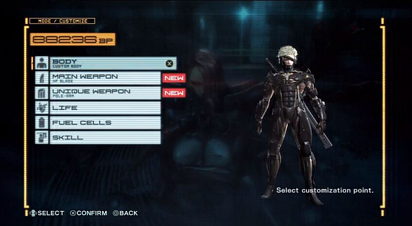 Metal Gear Rising Revengeance Customization