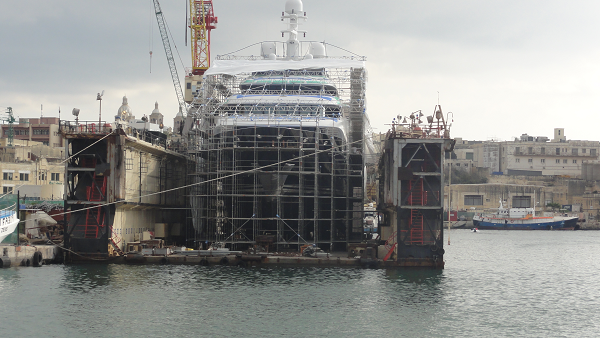 Malta Ship Being Built