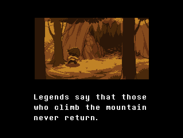 Undertale Intro Mountain