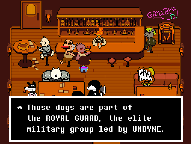 Undertale Snowdin Bar