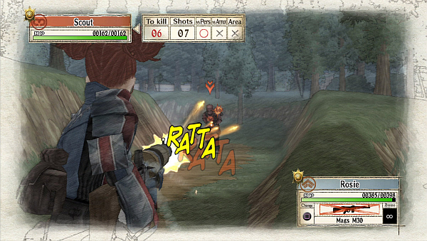 Valkyria Chronicles Battle Shooting