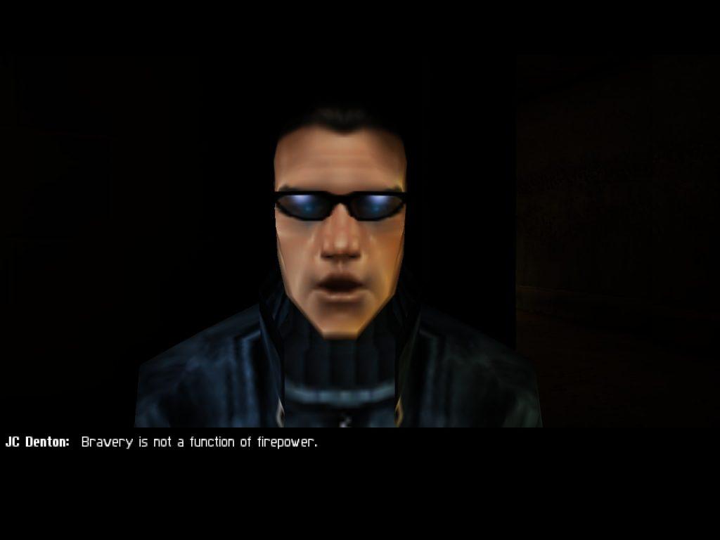 Deus Ex JC one-liner