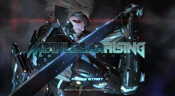Metal Gear Rising Revengeance Title Screen